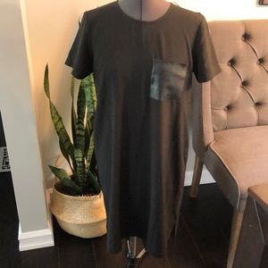 Madewell leather pocket dress